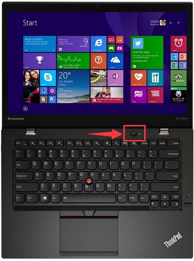 thinkpad笔记本电脑的电源开关按键在什么位置