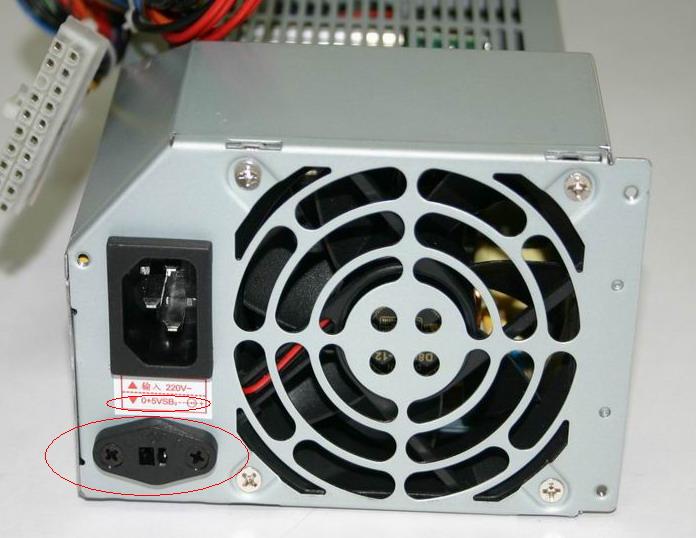 天禧电脑主机电源接口旁的小接口有什么作用?
